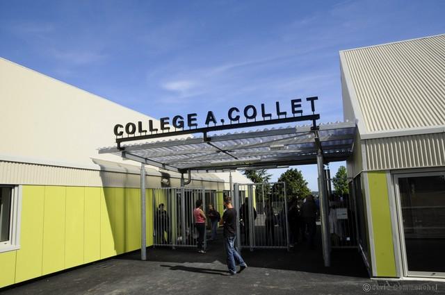 Inauguration College André Collet Moulin la marche